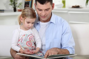 Reading to toddler daughter