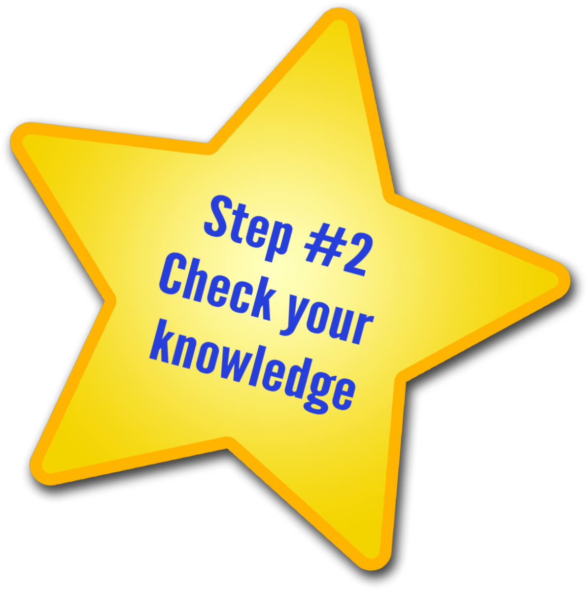 Step 2 - Check your knowledge